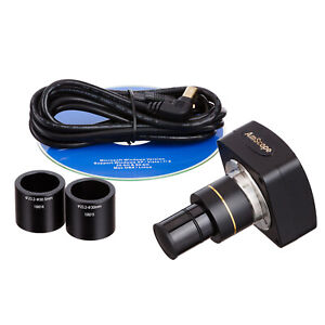 Amscope 1 3mp Microscope Digital Camera Usb Video Stills W Measuring Software