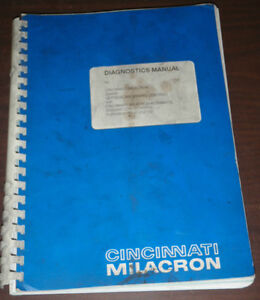 Cincinnati Milacron Diagnostics Manual Sabre Vertical Machining Centre 850sxmc