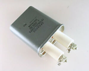 Sprague 0 1uf 3000v Dc Motor Run Oil Capacitor 3kv 1 Porcelain Screw Terminals