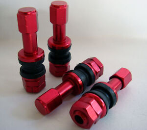 4 New Red Valve Stems For 5 Zigen Adr Inovit Wheels Rim