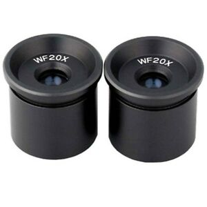 Amscope Ep20x305 Pair Of Wf20x Microscope Eyepieces 30 5mm