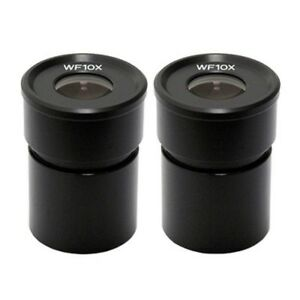 Amscope Ep10x305 Pair Of Wf10x Microscope Eyepieces 30 5mm