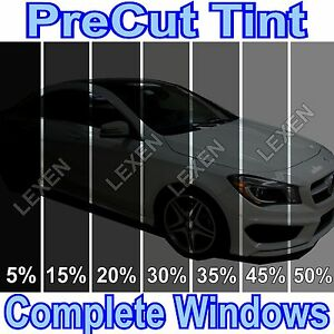 All Precut 2ply Dyed Window Tint Kit Computer Cut Glass Film Car Any Shade D