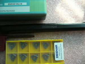 10x 16ir Internal Threading Inserts Type Selectable With Tool Holder Set