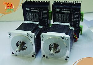 eu Ship 2axis Nema34 Wantai Stepper Motor With 1090 Oz in 5 6a