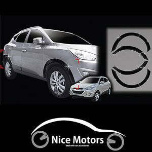 Chrome Fender Molding Black For Hyundai Tucson Ix35 2011 2012 2013