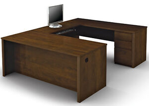 Bestar Prestige U Executive Workstation With Chocolate Finish 99871 1569