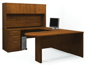 Bestar Embassy Tuscany Brown U Shaped Office Desk 60856 1663
