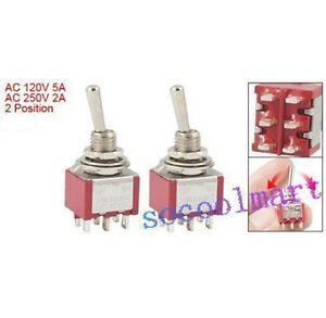 4 Pcs On on 2 Position Double Pole Double Throw Toggle Switch
