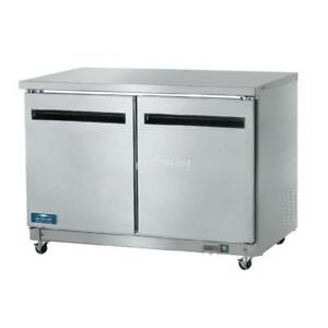 Arctic Air Auc48f Commercial Under Counter Freezer Double Two Door Nsf