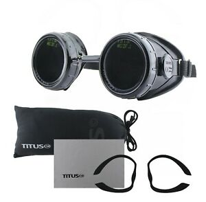 Black Welder s Welding Goggles Glasses Lens Steampunk New Industrial Osha Ansi