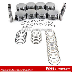 Engine Pistons W Rings Set For 4 7l Chrysler Dodge Jeep Mitsubishi Sohc V8