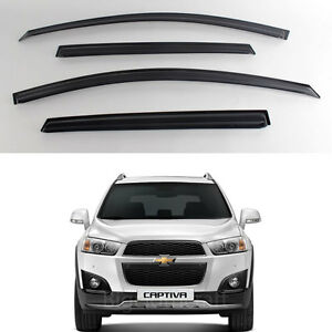 New Smoke Window Vent Visors Rain Guards For Chevrolet Captiva 2010 2012