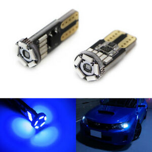Super Ultra Blue 15 smd T10 Led Bulbs For Car Parking Lights 168 194 2825 W5w