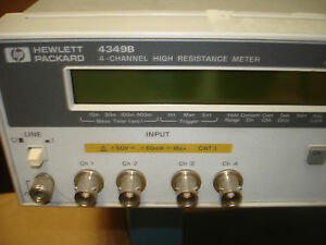 Hp agilent 4349b 4 Channel High Resistance Meter