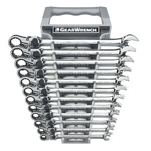 Gearwrench 85698 12 Piece Xl Locking Flex Head D B Ratcheting Socketing Wrench