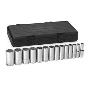 Gearwrench 80732 Socket Set 14 Piece 1 2 Drive 12 Point Deep Sae