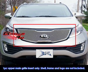 Fits 2011 2013 Kia Sportage Stainless Steel Double Wire X Mesh Grille Grill