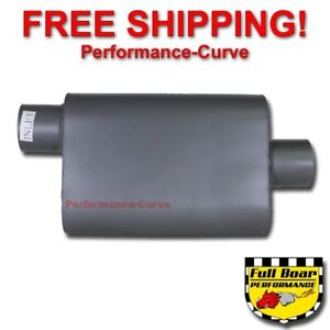 2 Chamber Performance Exhaust Muffler Full Boar Offset Center 3 Fb3041