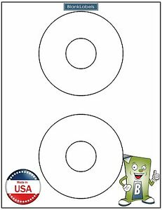 2000 Cd Dvd Laser Ink Labels Fits Template Size 5824 4 5 Circle 1000 Sheets