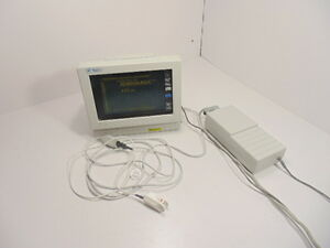Spacelabs 90309 Touch Screen Monitor With Power Supply And Fingertip Masimo Sens