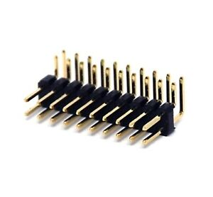 500 Male Pin Header Right Angle 90 Dual Row 2x10p 2x10 Pitch 2 54mm Rohs H 6mm