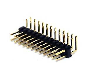 500 Male Pin Header Right Angle 90 Dual Row 2x12p 2x12 Pitch 2 54mm Rohs H 6mm
