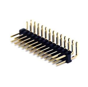 500 Male Pin Header Right Angle 90 Dual Row 2x13p 2x13 Pitch 2 54mm Rohs H 6mm