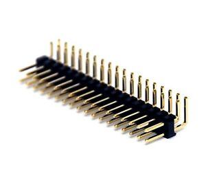 250 Male Pin Header Right Angle 90 Dual Row 2x18p 2x18 Pitch 2 54mm Rohs H 6mm
