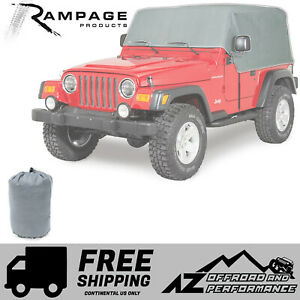 Rampage Waterproof Cab Cover Gray For 1987 1991 Jeep Wrangler Yj 1160
