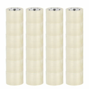 3 Inch X 110 Yards Clear Carton Sealing Packaging Packing Tape 1 6 Mil 24 Rolls