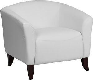 2 White Leather Side Chairs 1 Matching White Leather Loveseat And 1 Sofa