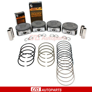 Pistons W Rings Main Rod Bearing Set For 00 06 Subaru Saab 2 5l Sohc Ej25