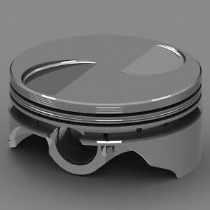 Icon Forged Piston Set Ford 2300 5 700 Rod Flat Top 2 5cc 2v