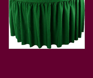 14 Burgundy Premium Flame Retardant Table Skirts Fire Resistant Table Skirting