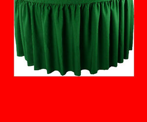 14 Red Premium Flame Retardant Table Skirts Fire Resistant Table Skirting