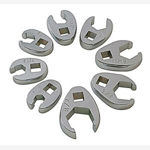 Sunex 9708 3 8 Dr 8 Pc Fully Polished Sae Flare Nut Crowfoot Wrench Set