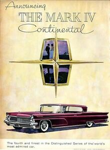 1958 Lincoln Continental Print Ad Mark Iv Maroon Burgundy 2dr Great Vintage 1959