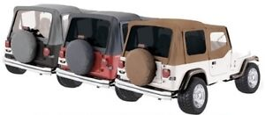 Rampage Factory Replacement Soft Top 88 95 Jeep Wrangler Yj 99417 Spice Denim