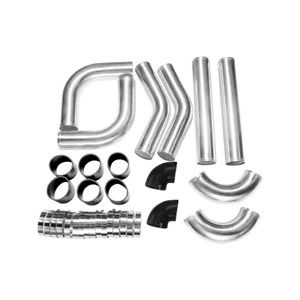 Cxracing Universal Diy 3 0 8pc Fmic Intercooler Aluminum Piping Kit Black Hoses