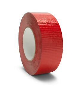 2 Red Duct Tape 60 Yards Thickness 9 Mil Set Of 144 Rolls 6 Cases