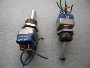 2x Aircraft Apem Apr jo 12149k Professional Toggle Switch On off on Double Pole