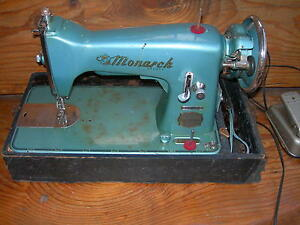 Antique Vintage Monarch Electric Sewing Machine Beautiful Wow