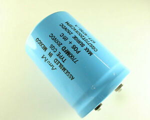 New Mallory Cgs Series 7700uf 200v Large Can Screw Terminal Capacitor