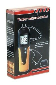 Dt 129 Industrial Wide Range Digital Wood Timber Moisture Temperature Meter New