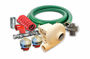 Water Truck Kit Centrifugal Pump 650 Gpm 60 Psi Sprayers Pipes Valves