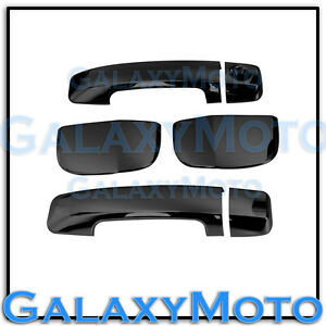 Black Chrome 4 Door Handle No Psg K H Cover For 07 17 Toyota Tundra Double Cab