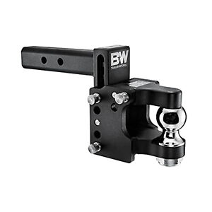 B w Hitches Ts10056 Tow Stow 2 5 16 Adjustable Pintle Hitch Ball Mount
