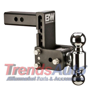 B w Hitches Ts10037b Tow Stow 5 5 5 Adjustable Dual Ball Mount Receiver Hitch