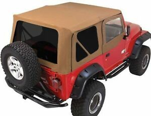 Rampage Complete Soft Top W Frame Tint 97 06 Jeep Wrangler Tj 68517 Spice